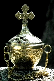 A censer is often used during the Catholic Funeral Mass