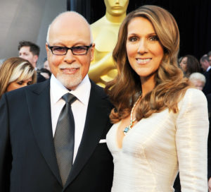 A photo of Celine Dion, who says she has post-bereavement hallucinations, and her husband Rene Angelil