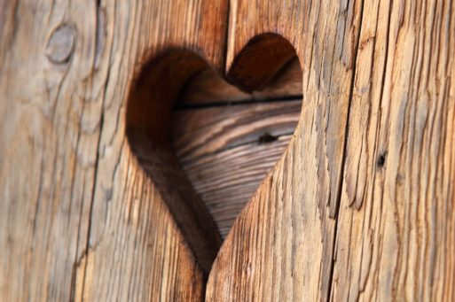 wood hole cut like broken heart syndrome