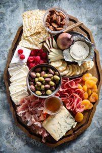 Tray of visiting snacks