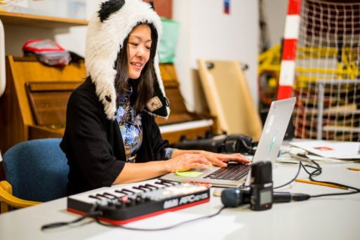 Yoko Sen at work on human-centered sound design
