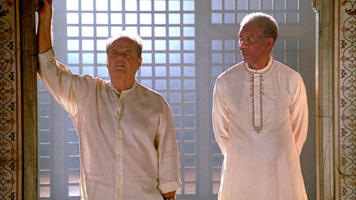 Still of a scene from The Bucket List with Morgan Freeman and Jack Nicholson