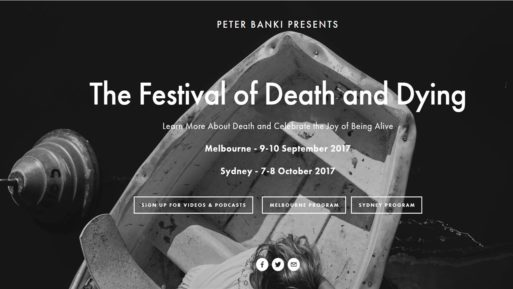 Announcement for Festival of Death and Dying