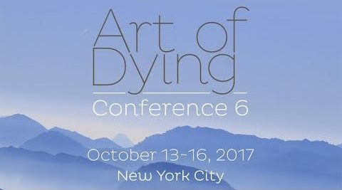 Banner advertising the Art of Dying Conference