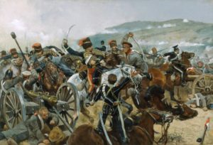 "Relief depicting the ""Charge of the Light Brigade"""