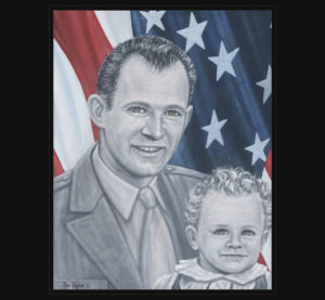 Father and Child painting from American Fallen Soldiers