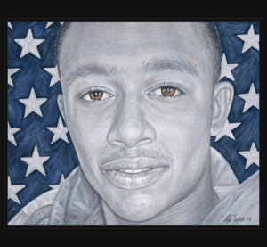 The portrait of one of American Fallen Soldiers