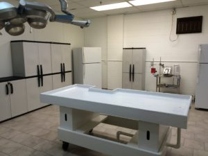 Cryonics institute patient perfusion room