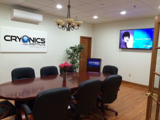 Cryonics Institute conference room where people talk about what cryonics cost