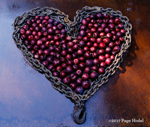 handmade heart fruit wrapped in chain