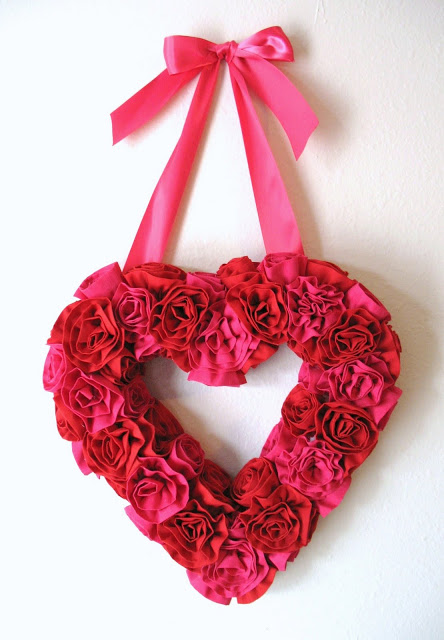 Heart made of flowers for valentines day filled with love