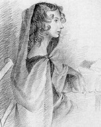 Anne Bronte, younger sister of Charlotte Bronte
