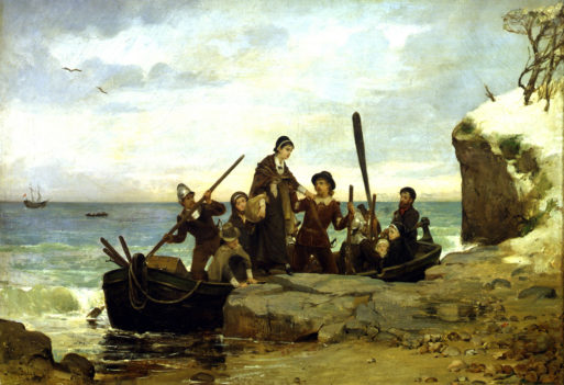 Painting of the Landing of the Pilgrims