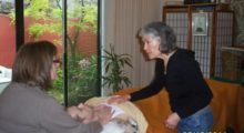 Irene Smith teaches touch to a caregiver