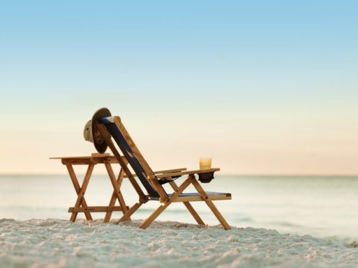 An empty beach chair...time to make memories is over after you're gone
