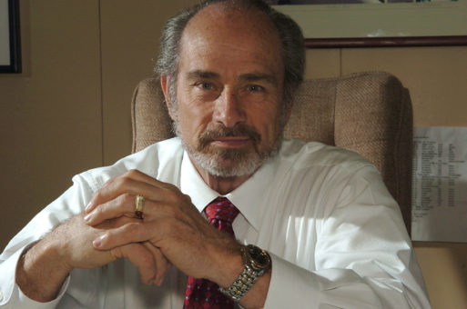 Portrait of Ken Holmes, former coroner of Marin County