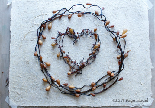 Handmade heart of branches