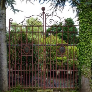 """An old gate like the gate in the poem """"At the Gate"""""""