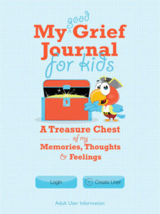 Front page of My Good Grief Journal for Kids