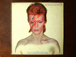 """The cover of David Bowie's album """"Aladdin Sane,"""" which was mentioned in the documentary """"David Bowie: The Last Five Years"""""""