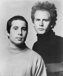 """A portrait of Simon and Garfunkel, the folk duo that covered the song """"The Sun is Burning"""""""