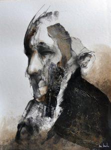 Mixed media painting by Eric Lacombe