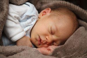 An infant sleeping