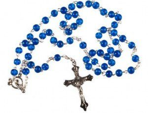 Rosary beads may help loved ones who have recently buried cremated remains grieve