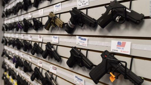 A display of handguns for sale limiting gun ownership would aid suicide prevention