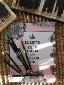 "Suzette's ""Keep Calm and Color On"" book as mediation for the grieving"