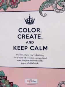 """Keep Calm and Color On"" book as mediation for the grieving"