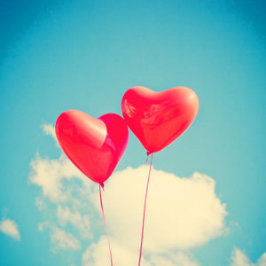 Red balloons of love for Heather Mosher